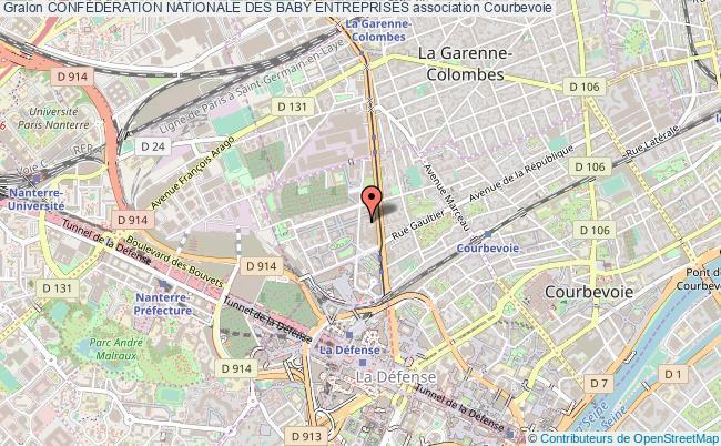 plan association ConfÉdÉration Nationale Des Baby Entreprises Courbevoie