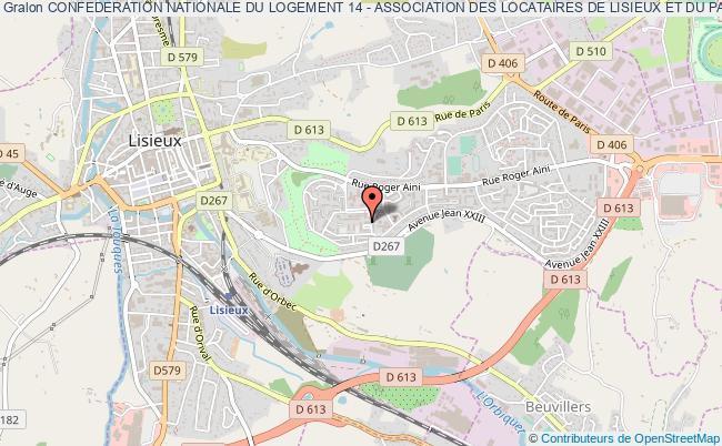 plan association Confederation Nationale Du Logement 14 - Association Des Locataires De Lisieux Et Du Pays D'auge