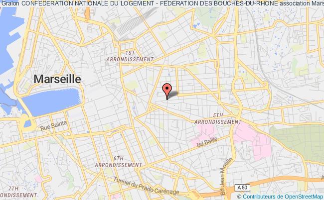 plan association Confederation Nationale Du Logement - Federation Des Bouches-du-rhone