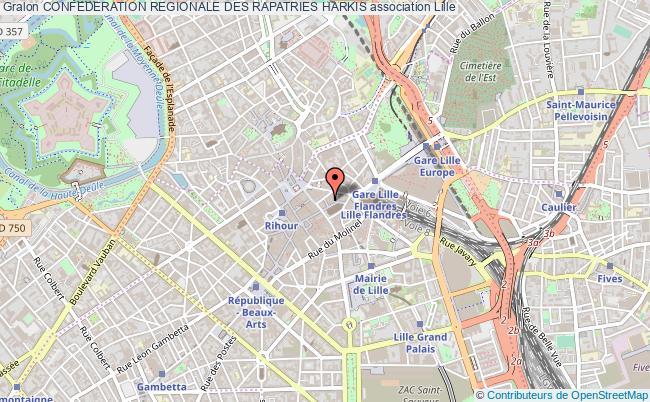 plan association Confederation Regionale Des Rapatries Harkis