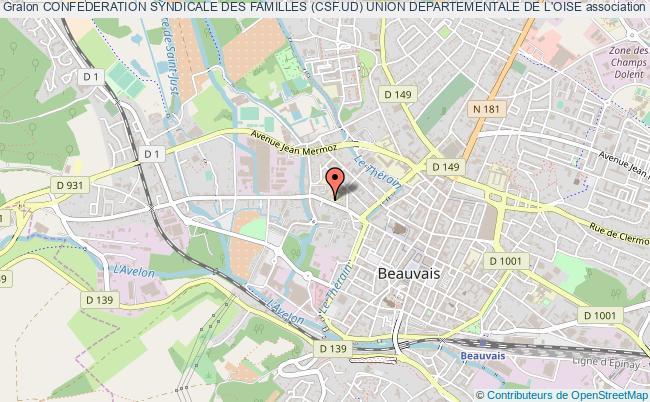 plan association Confederation Syndicale Des Familles (csf.ud) Union Departementale De L'oise Beauvais