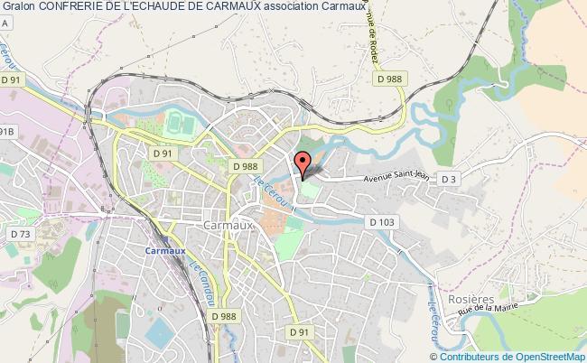 plan association Confrerie De L'echaude De Carmaux