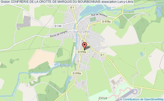 plan association ConfrÉrie De La Crotte De Marquis Du Bourbonnais Lurcy-Lévis