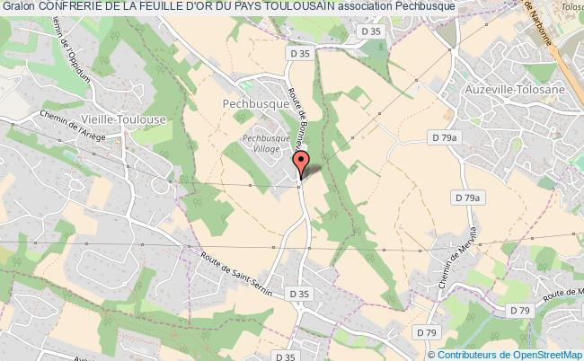plan association Confrerie De La Feuille D'or Du Pays Toulousain