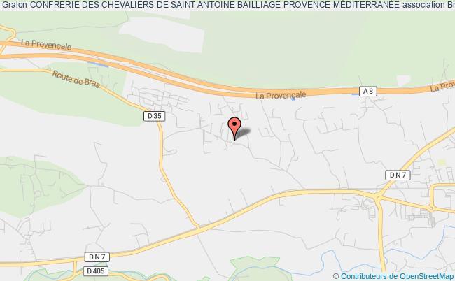 plan association Confrerie Des Chevaliers De Saint Antoine Bailliage Provence MÉditerranÉe