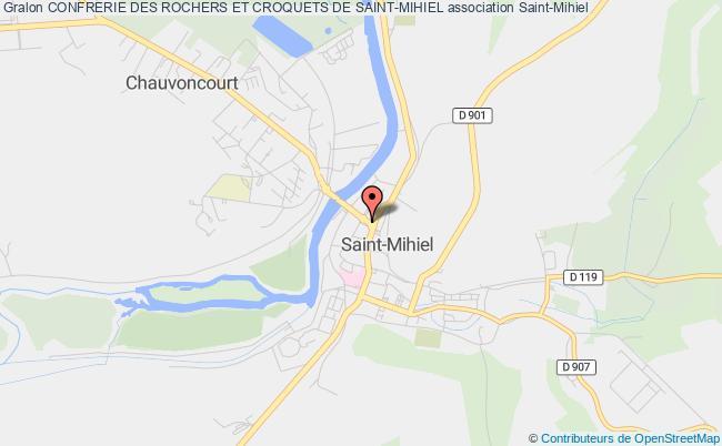 plan association Confrerie Des Rochers Et Croquets De Saint-mihiel