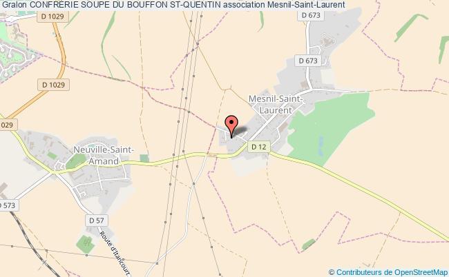 plan association ConfrÉrie Soupe Du Bouffon St-quentin