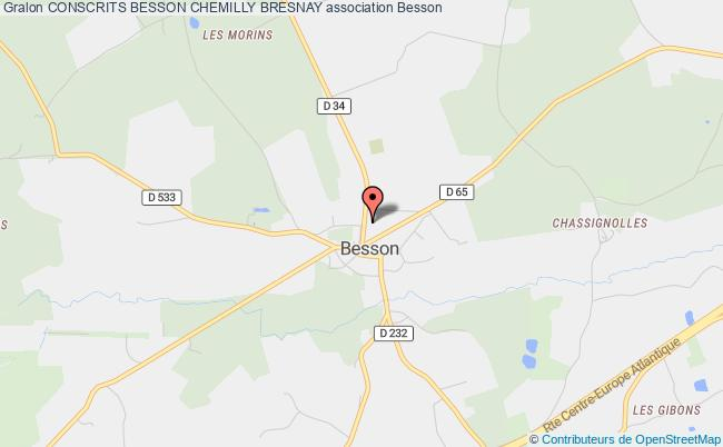 plan association Conscrits Besson Chemilly Bresnay