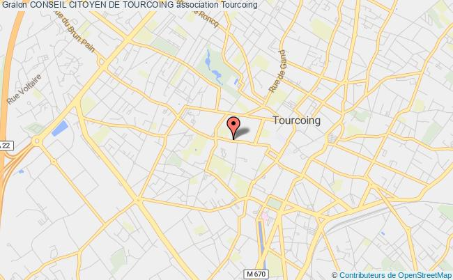 plan association Conseil Citoyen De Tourcoing