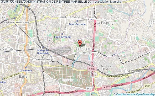 plan association Conseil D'administration De Rentree Marseille 2011 Marseille