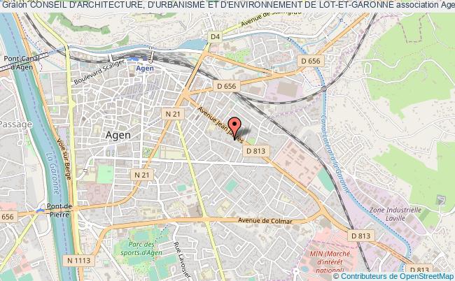 plan association Conseil D'architecture, D'urbanisme Et D'environnement De Lot-et-garonne
