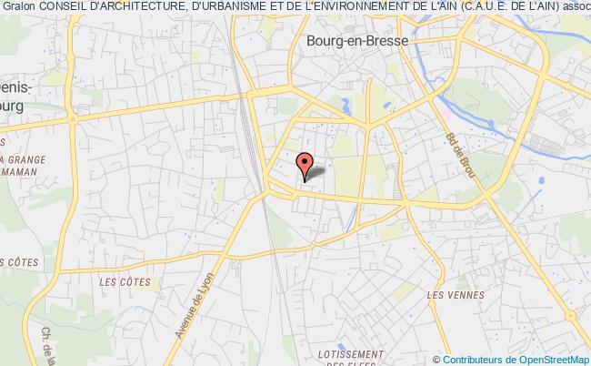 plan association Conseil D'architecture, D'urbanisme Et De L'environnement De L'ain (c.a.u.e. De L'ain)