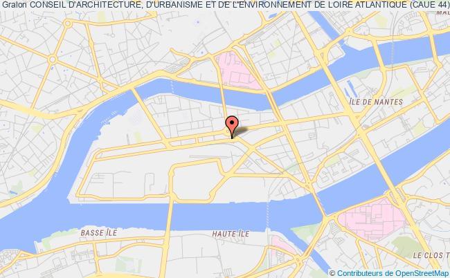 plan association Conseil D'architecture, D'urbanisme Et De L'environnement De Loire Atlantique (caue 44)