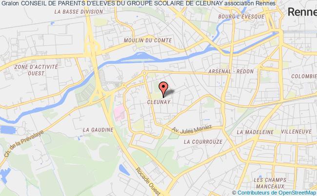 plan association Conseil De Parents D'eleves Du Groupe Scolaire De Cleunay