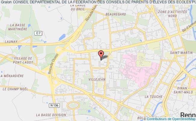 plan association Conseil Departemental De La Federation Des Conseils De Parents D'eleves Des Ecoles Publiques D'ille Et Vilaine (f.c.p.e)