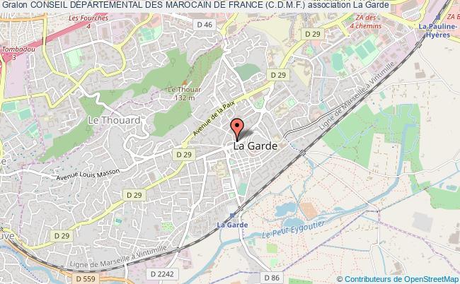 plan association Conseil DÉpartemental Des Marocain De France (c.d.m.f.)