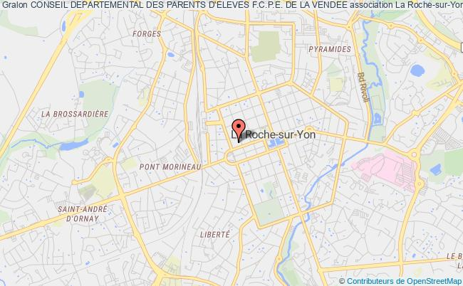 plan association Conseil Departemental Des Parents D'eleves F.c.p.e. De La Vendee La    Roche-sur-Yon