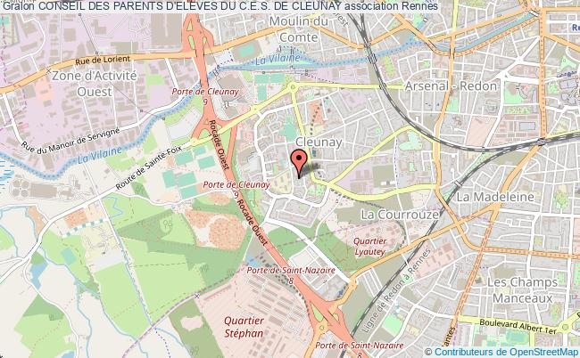 plan association Conseil Des Parents D'eleves Du C.e.s. De Cleunay