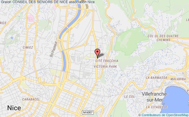 plan association Conseil Des Seniors De Nice Nice