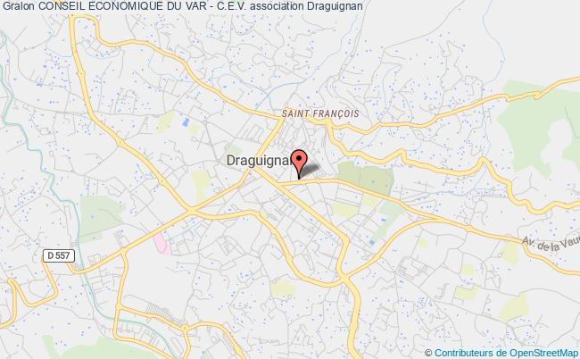plan association Conseil Economique Du Var - C.e.v. Toulon Cedex
