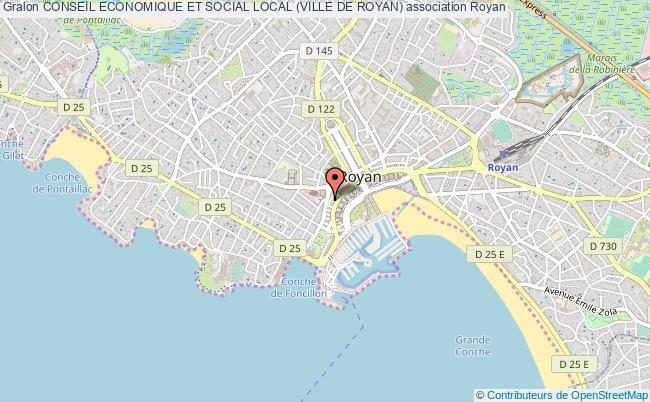 plan association Conseil Economique Et Social Local (ville De Royan) Royan