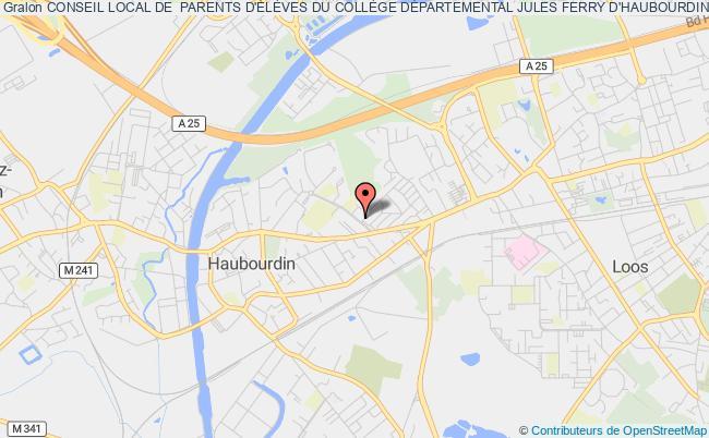 plan association Conseil Local De Parents D'eleves Du College Departemental D'haubourdin Haubourdin