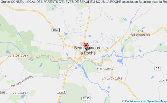 plan association Conseil Local Des Parents D'eleves De Beaulieu Sous La Roche Beaulieu-sous-la-Roche
