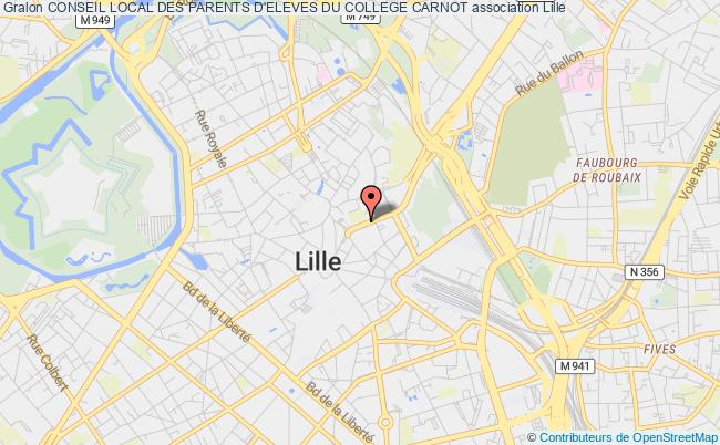plan association Conseil Local Des Parents D'eleves Du College Carnot