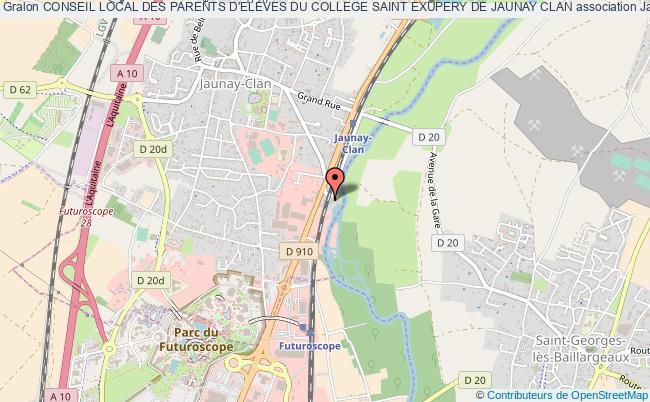 plan association Conseil Local Des Parents D'eleves Du College Saint Exupery De Jaunay Clan