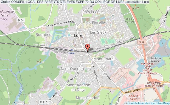 plan association Conseil Local Des Parents D'ÉlÈves Fcpe 70 Du CollÈge De Lure