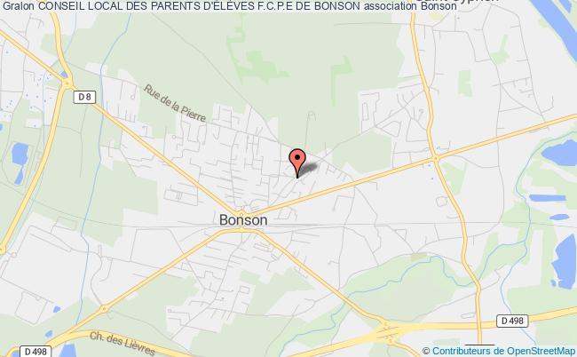 plan association Conseil Local Des Parents D'ÉlÈves F.c.p.e De Bonson Bonson