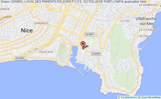 plan association Conseil Local Des Parents D'eleves F.c.p.e. Du College Port-lympia