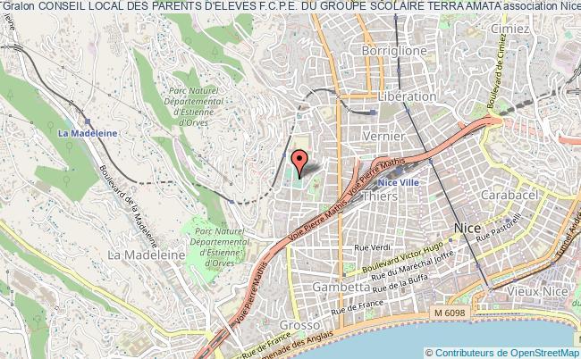 plan association Conseil Local Des Parents D'eleves F.c.p.e. Du Groupe Scolaire Terra Amata