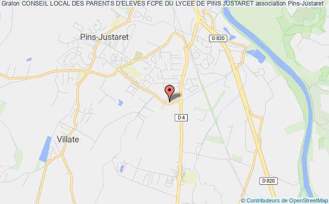 plan association Conseil Local Des Parents D'eleves Fcpe Du Lycee De Pins Justaret