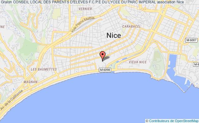 plan association Conseil Local Des Parents D'eleves F.c.p.e Du Lycee Du Parc Imperial