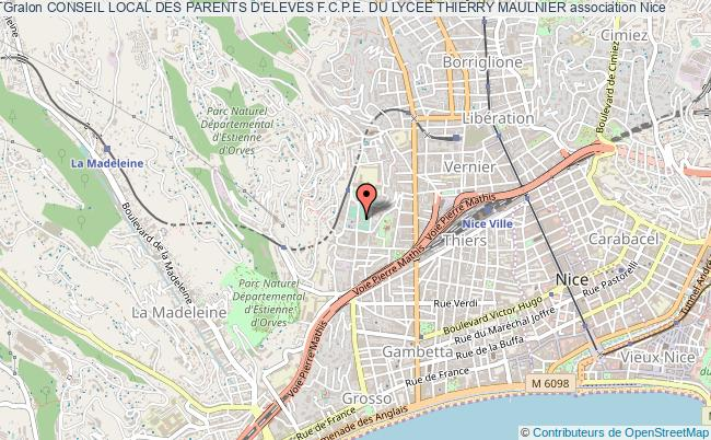 plan association Conseil Local Des Parents D'eleves F.c.p.e. Du Lycee Thierry Maulnier