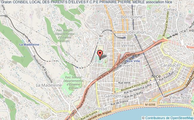 plan association Conseil Local Des Parents D'eleves F.c.p.e Primaire Pierre Merle