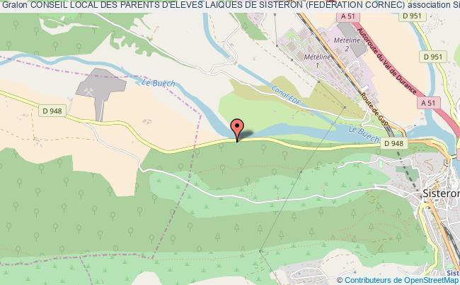 plan association Conseil Local Des Parents D'eleves Laiques De Sisteron (federation Cornec)