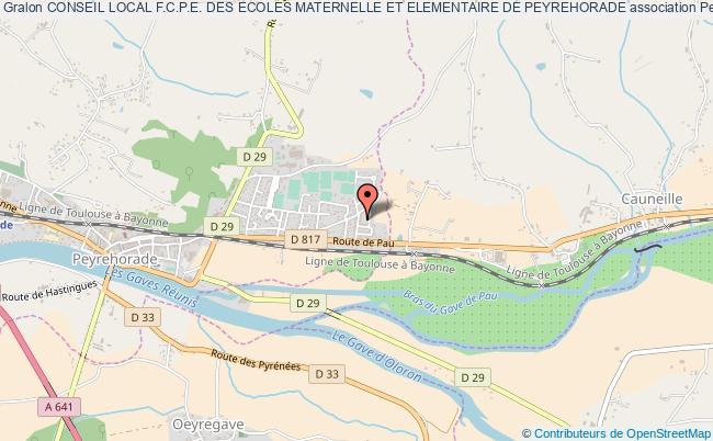 plan association Conseil Local F.c.p.e. Des Ecoles Maternelle Et Elementaire De Peyrehorade Peyrehorade