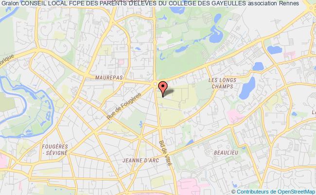 plan association Conseil Local Fcpe Des Parents D'eleves Du College Des Gayeulles