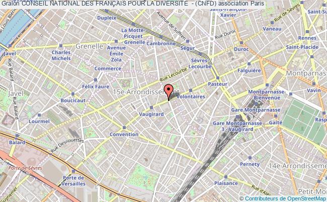 plan association Conseil National Des FranÇais Pour La Diversite  - (cnfd) Paris cedex 15