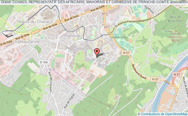 plan association Conseil Representatif Des Africains, Mahorais Et Caribeens De Franche-comte