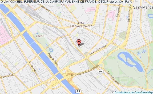 plan association Conseil Superieur De La Diaspora Malienne De France (csdmf) Paris