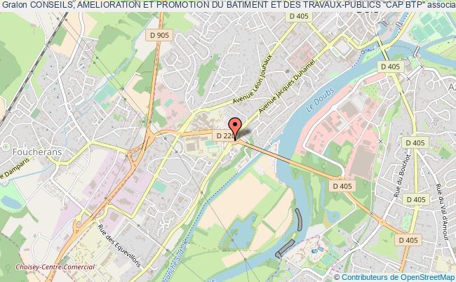 """plan association Conseils, Amelioration Et Promotion Du Batiment Et Des Travaux-publics """"cap Btp"""" Dole"""