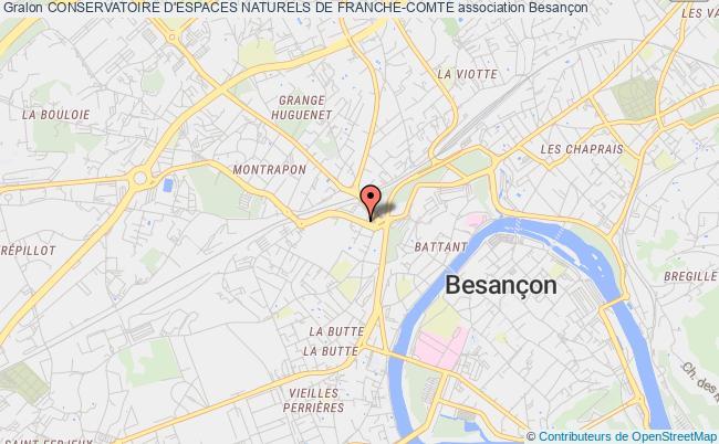 plan association Conservatoire D'espaces Naturels De Franche-comte