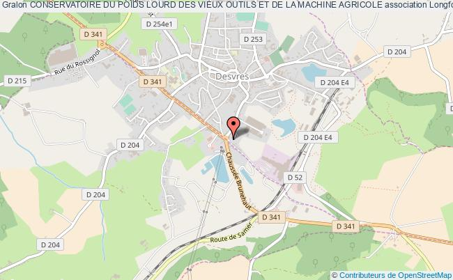 plan association Conservatoire Du Poids Lourd Des Vieux Outils Et De La Machine Agricole Longfossé