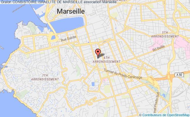 plan association Consistoire Israelite De Marseille