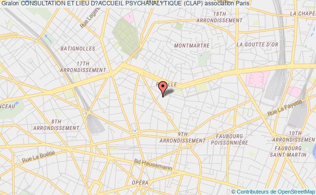 plan association Consultation Et Lieu D?accueil Psychanalytique (clap)