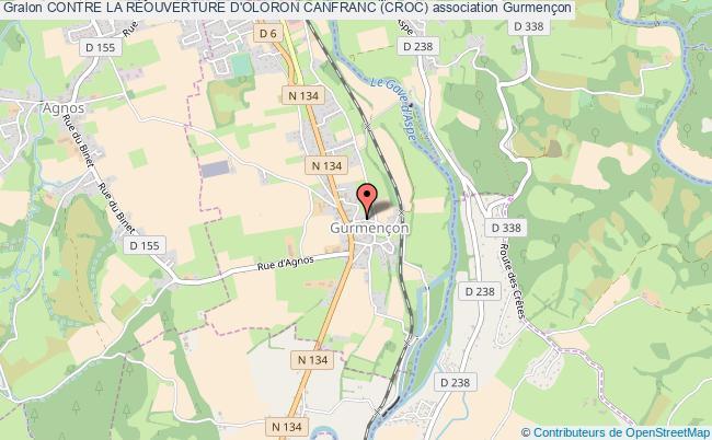 plan association Contre La RÉouverture D'oloron Canfranc (croc)
