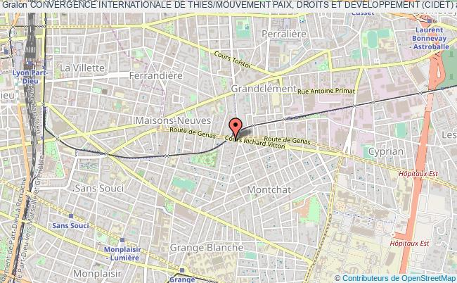 plan association Convergence Internationale De Thies/mouvement Paix, Droits Et Developpement (cidet)